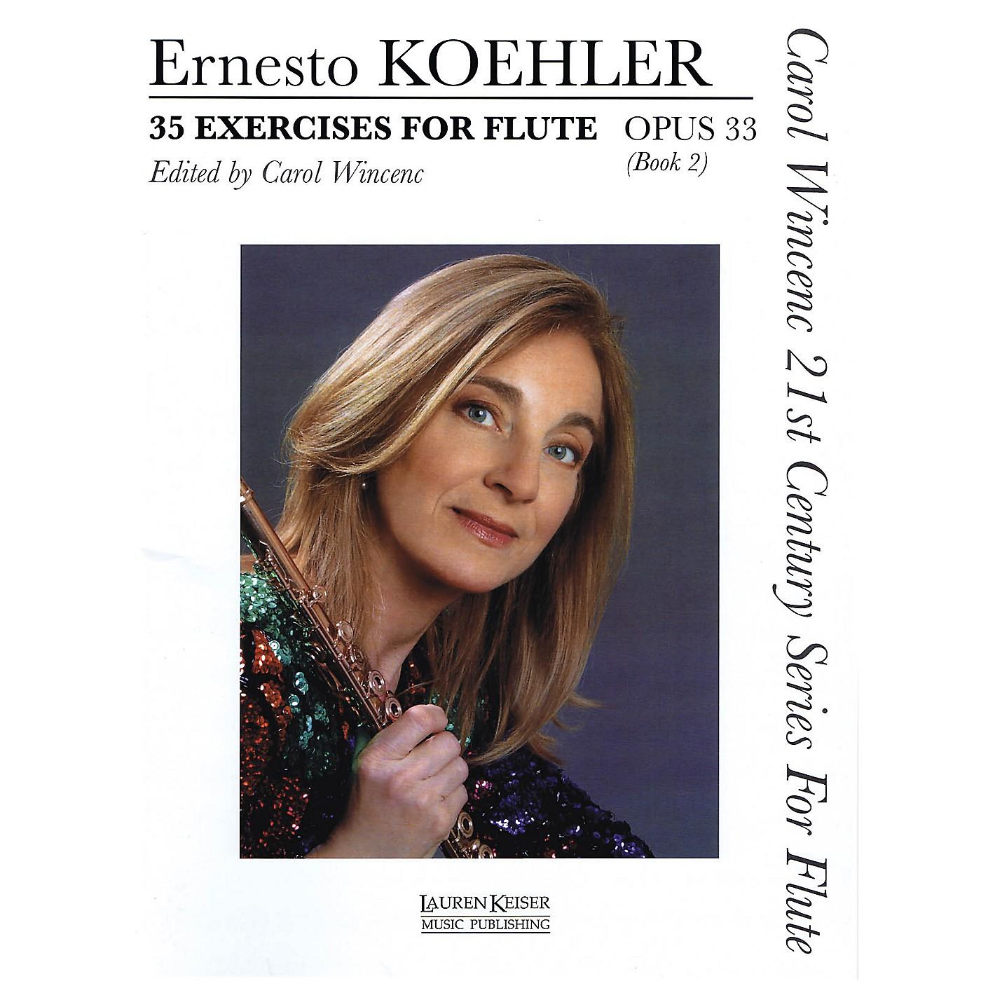 Lauren Keiser Music Publishing 35 Exercises for Flute, Op. 33 LKM Music Series Softcover thumbnail