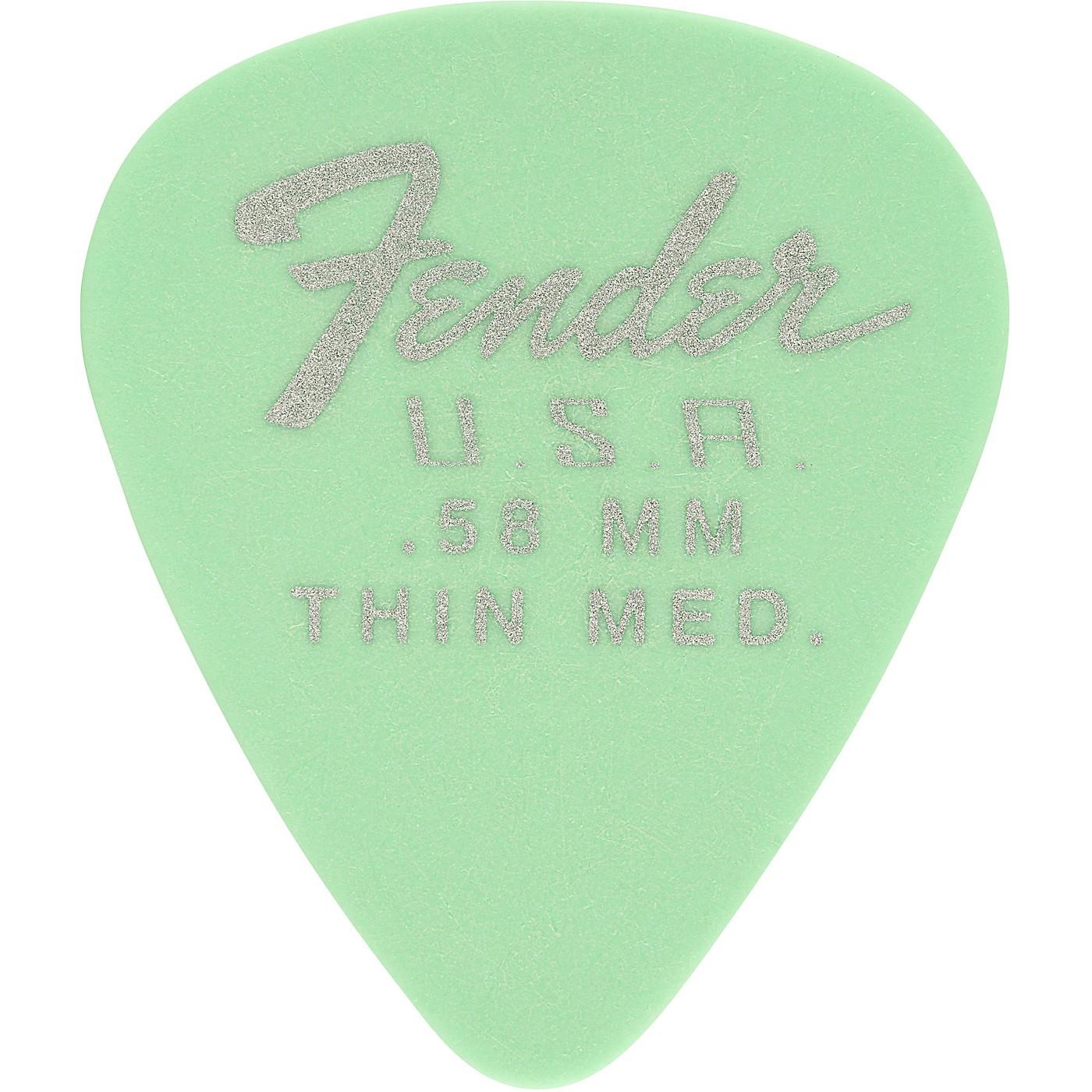 Fender 351 Dura-Tone Delrin Pick (12-Pack), Surf Green thumbnail