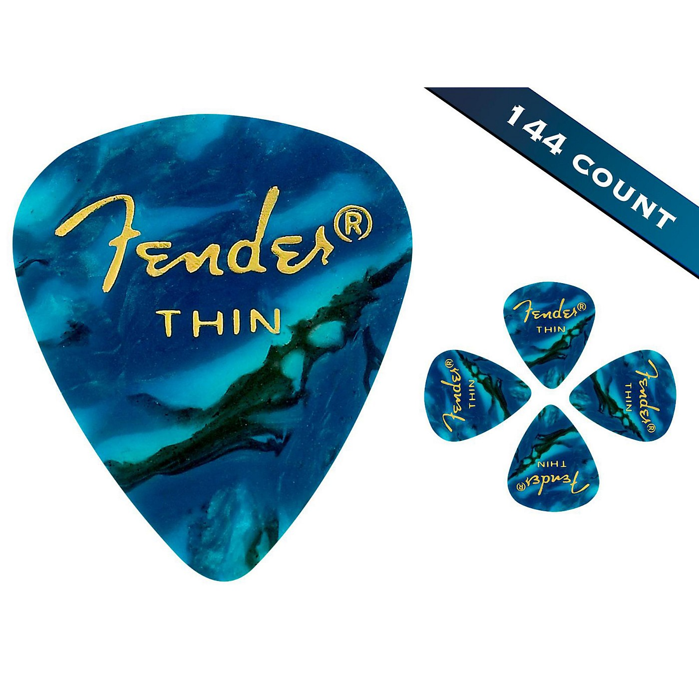Fender 351 Premium Thin Guitar Picks - 144 Count thumbnail
