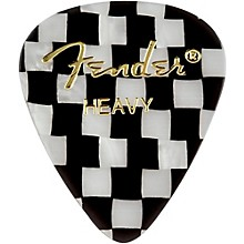 Fender 351 Sjhape Premium Picks, Checker Celluloid