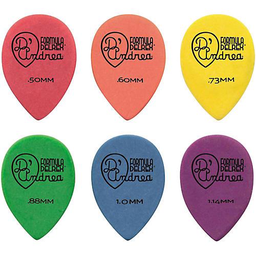 D'Andrea 358 Small Delrex Delrin Guitar Picks Teardrop - One Dozen thumbnail