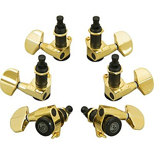 D'Addario Planet Waves Auto-Trim Tuning Machines/3 Per Side Gold