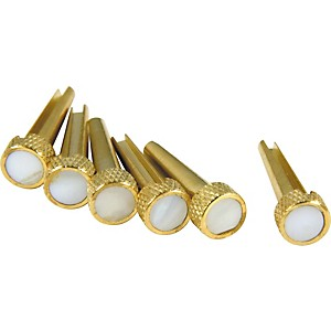 D'Andrea Tone Pins Brass Bridge Pin Set Mother of Pearl