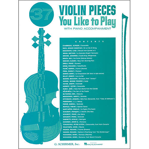 G. Schirmer 37 Violin Pieces You Like To Play with Piano Accompaniment-thumbnail