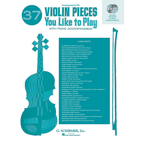 G. Schirmer 37 Violin Pieces You Like to Play (Two Accompaniment CDs) String Solo Series CD Composed by Various thumbnail