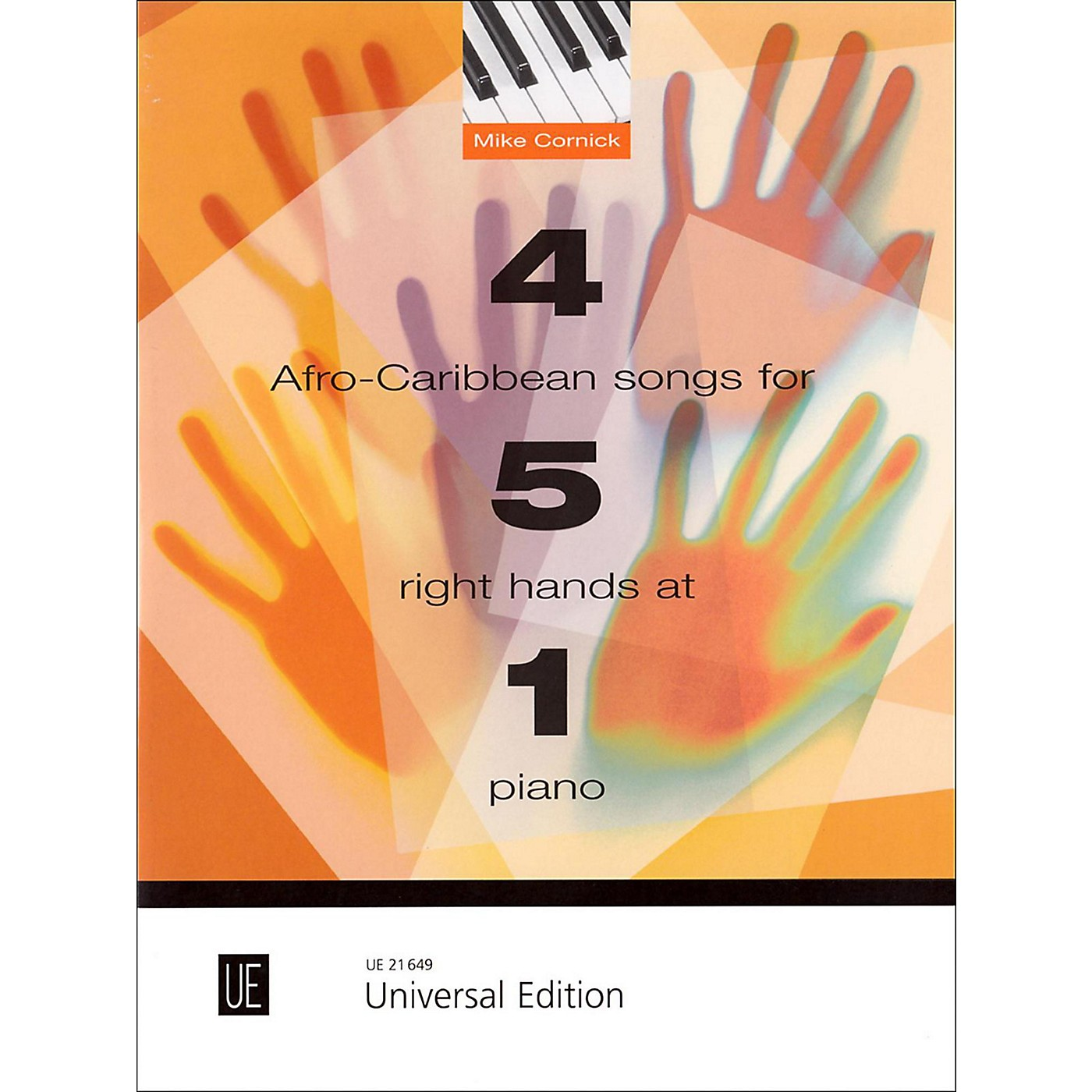 Carl Fischer 4 Afro-Caribbean Songs for 5 Right Hands at 1 Piano Book thumbnail