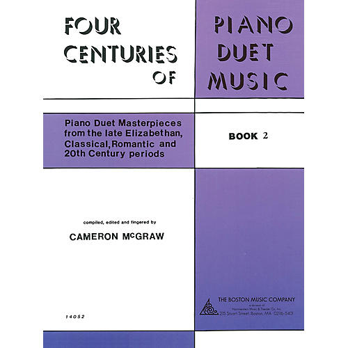 Boston Music 4 Centuries of Piano Duet Music (Book 2) Music Sales America Series Softcover thumbnail