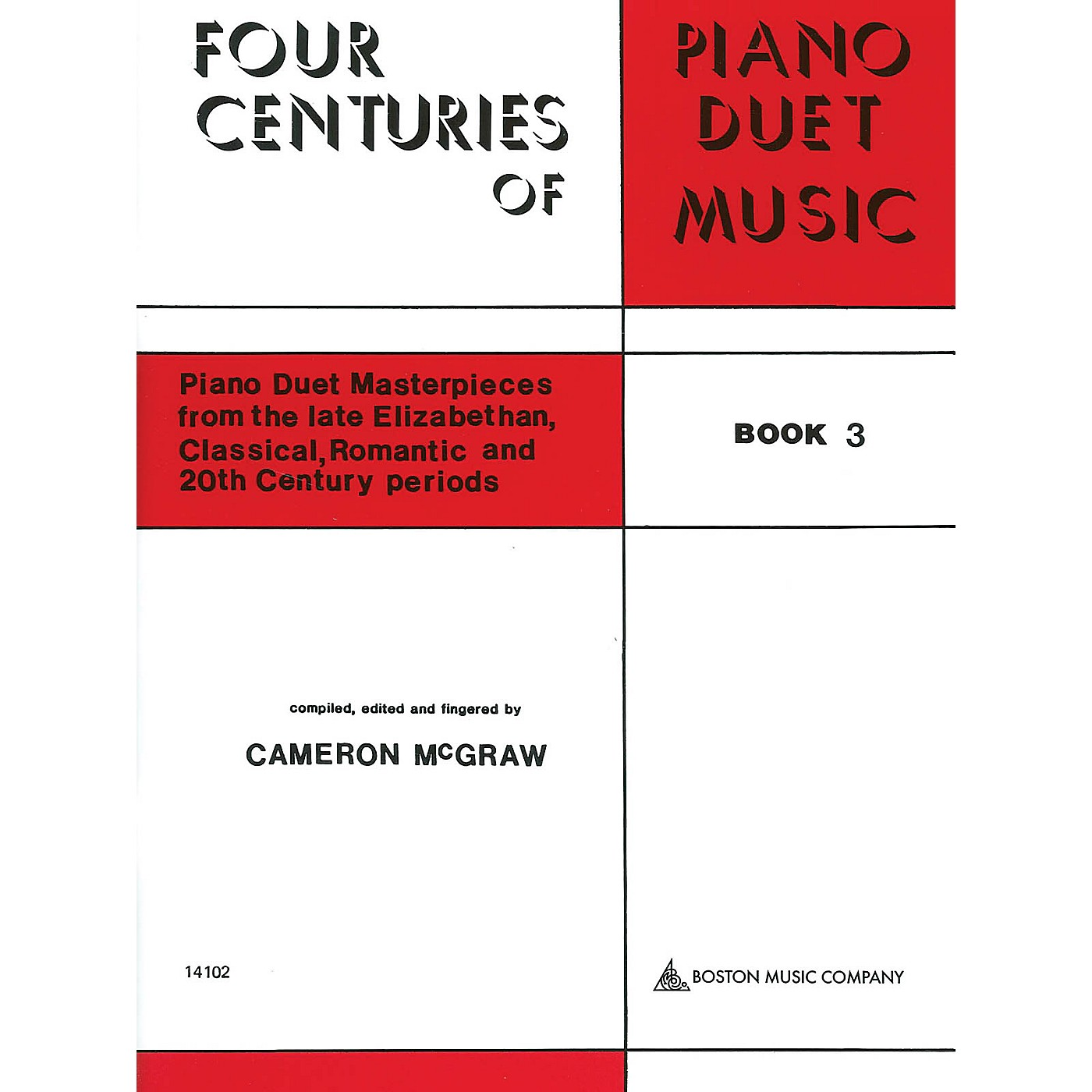 Boston Music 4 Centuries of Piano Duet Music (Book 3) Music Sales America Series Softcover thumbnail