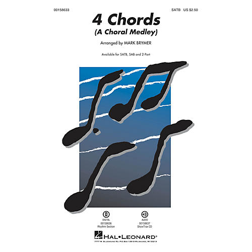 Hal Leonard 4 Chords (A Choral Medley) 2-Part Arranged by Mark Brymer thumbnail