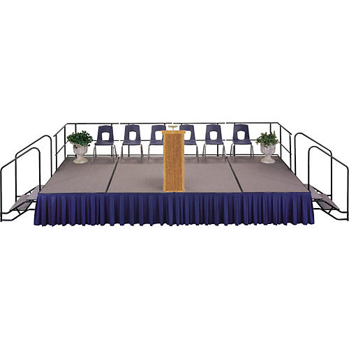 Midwest Folding Products 4' Deep X 8' Wide Single Height Portable Stage & Seated Riser thumbnail