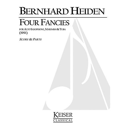 Lauren Keiser Music Publishing 4 Fancies for Alto Sax, Marimba and Tuba LKM Music Series Composed by Bernhard Heiden thumbnail