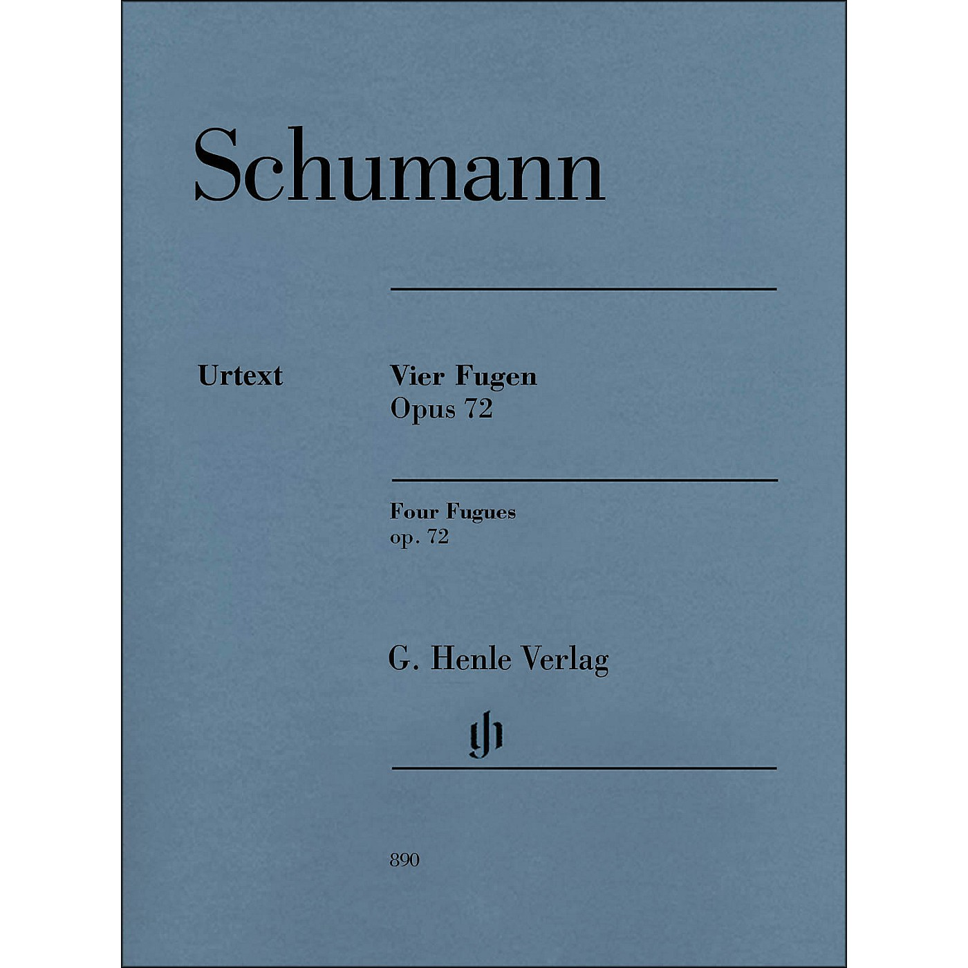 G. Henle Verlag 4 Fugues Op. 72 Piano Solo By Schumann thumbnail