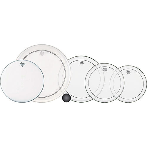 Remo 4-Piece Clear Pinstripe Standard Pro Pack with Free 14 in. Coated Ambassador Snare Drum Head thumbnail