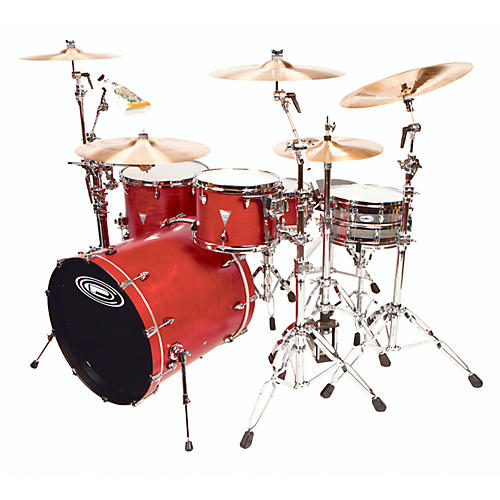 Orange County Drum & Percussion 4-Piece Venice Trans Cherry Wood Shell Pack thumbnail