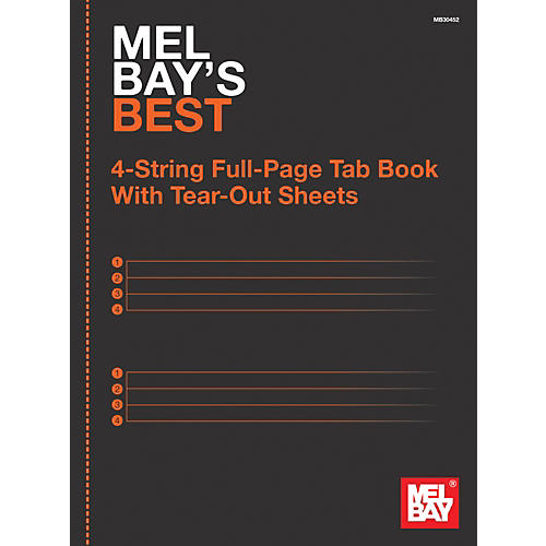 Mel Bay 4-String Full-Page Tab Book thumbnail
