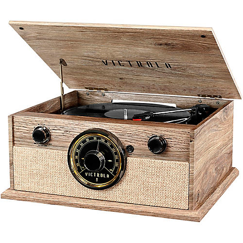 Victrola 4-in-1 Cambridge Farmhouse Modern Bluetooth Turntable with Radio thumbnail