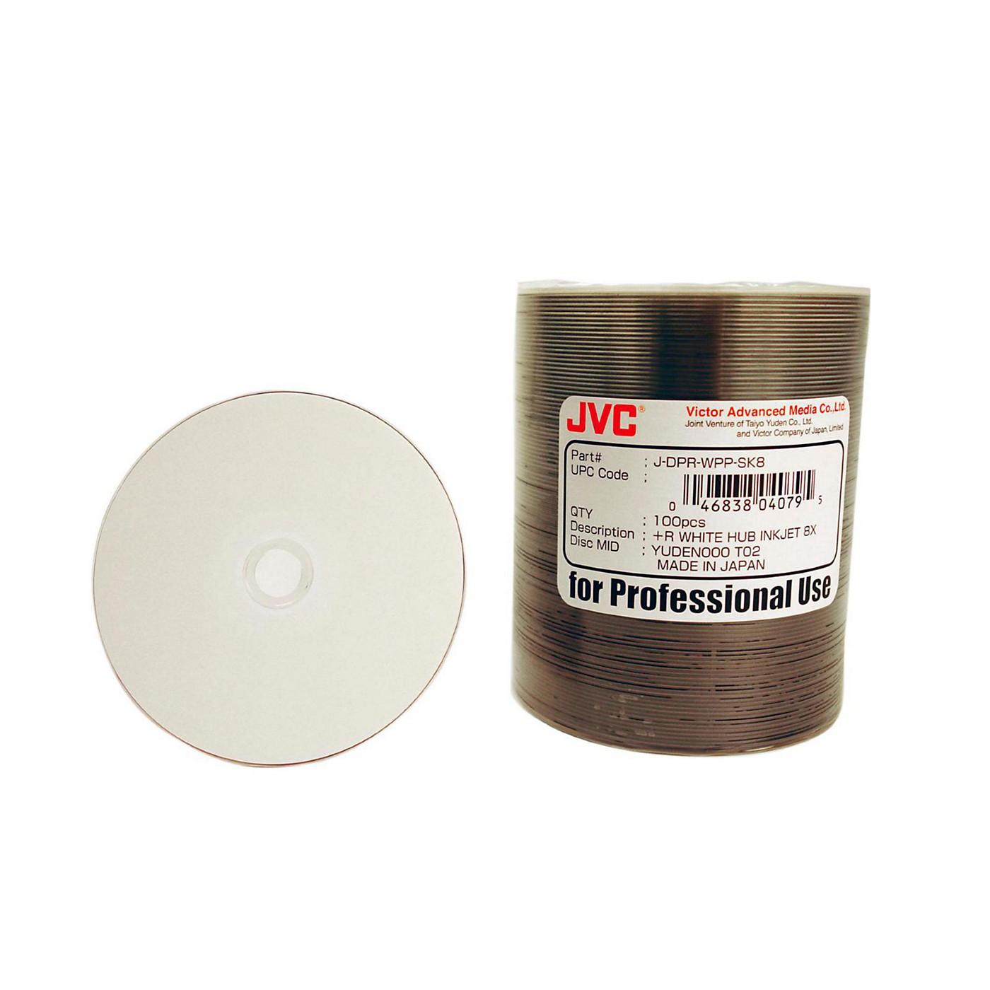 Taiyo Yuden 4.7GB DVD+R, 8X, White Inkjet-Printable and Hub Printable, 100 Disc Spindle thumbnail