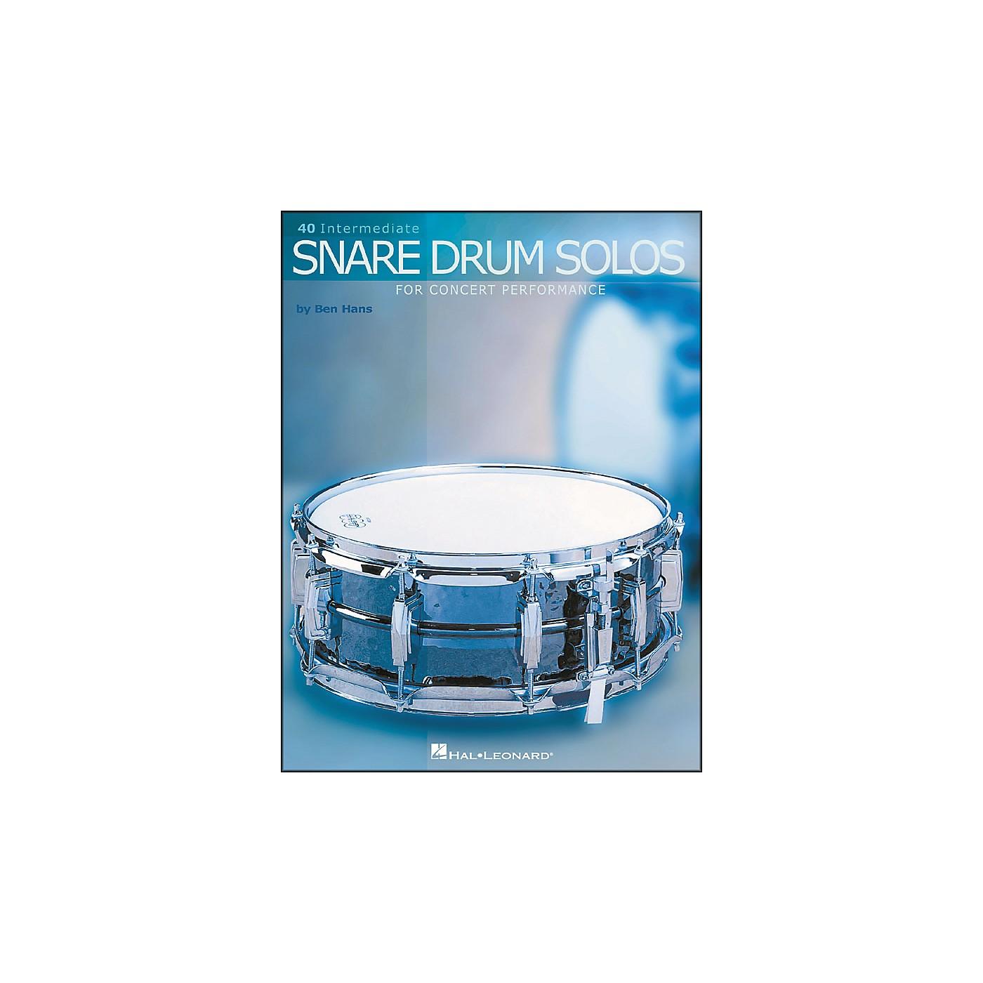 Hal Leonard 40 Intermediate Snare Drum Solos for Concert Performance thumbnail