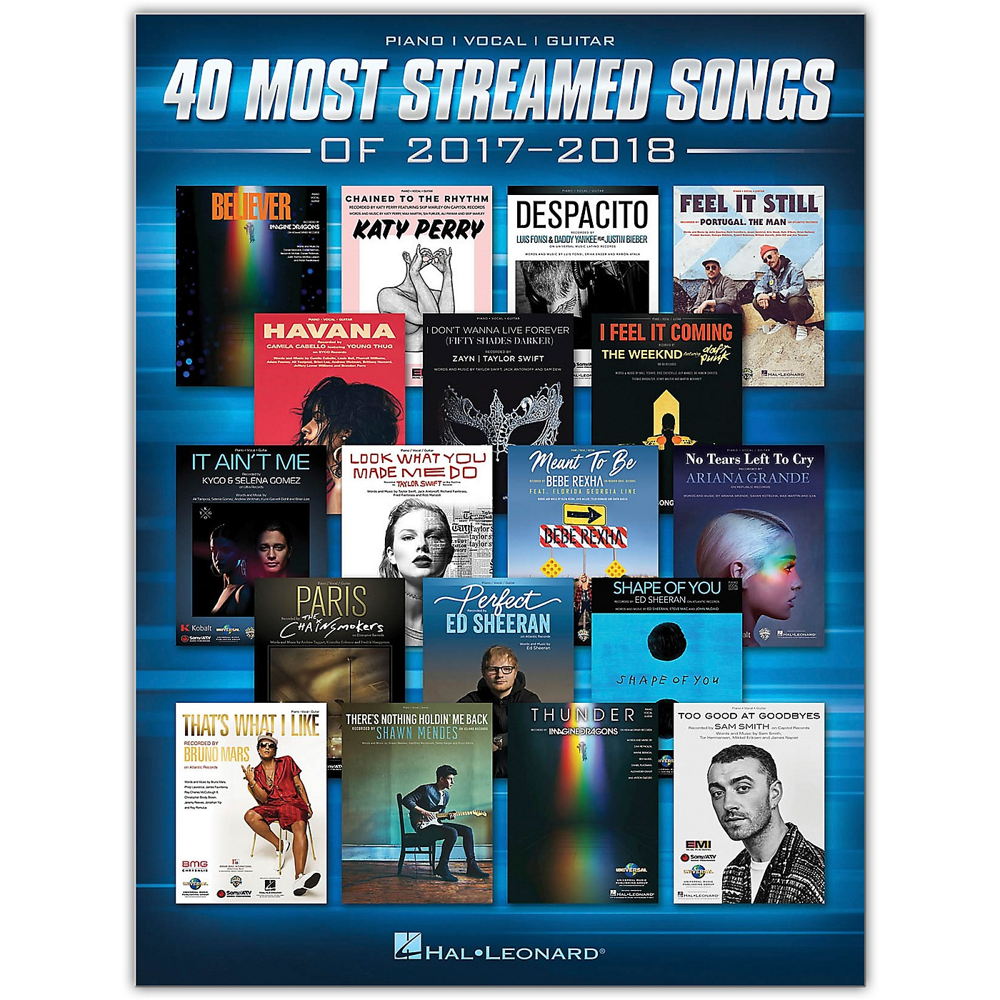 Hal Leonard 40 Most Streamed Songs of 2017-2018 Piano/Vocal/Guitar Songbook thumbnail
