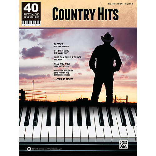 Alfred 40 Sheet Music Bestsellers: Country Hits Book thumbnail