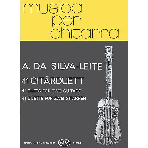 Editio Musica Budapest 41 Duets (Guitar Duo) EMB Series Composed by Antonio da Silva-Leite thumbnail