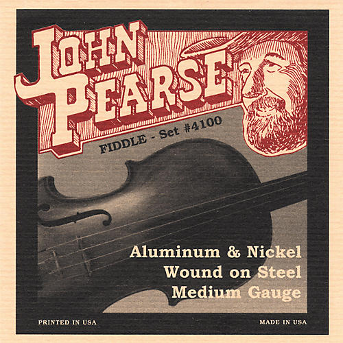 John Pearse 4100 Flat Wound Fiddle Strings-thumbnail