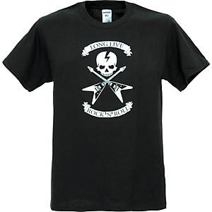 Full On Clothing Dueling V Guitars T-Shirt Medium Black