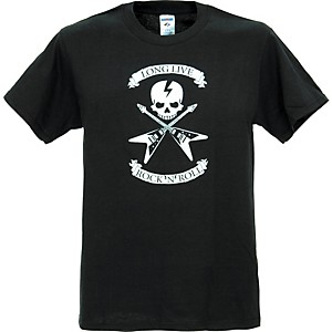 Full On Clothing Dueling V Guitars T-Shirt Xx-Large Black