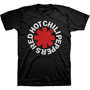 Red Hot Chili Peppers Red Hot Chili Peppers Asterisk Mens T-Shirt Black Large