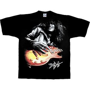 Slash Slash Playing Guitar T-Shirt Black Extra Large
