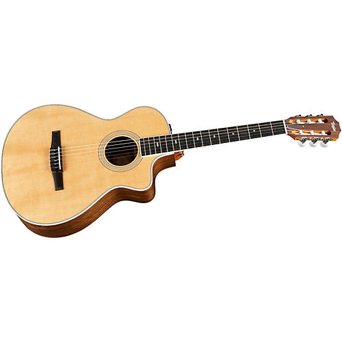 Taylor 412ce-N Ovangkol/Spruce Nylon String Grand Concert Acoustic-Electric Guitar thumbnail