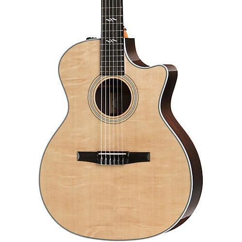 taylor natural 414ce n grand auditorium nylon string acoustic electric guitar woodwind brasswind. Black Bedroom Furniture Sets. Home Design Ideas