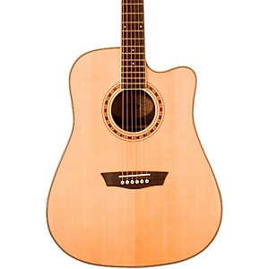 Washburn WD 20SCE Cutaway Dreadnought Acoustic-Electric Guitar Natural