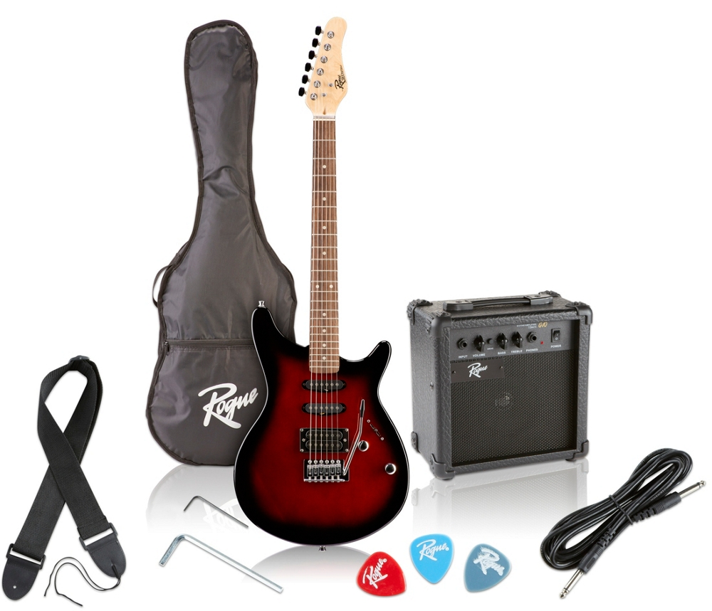 Rogue-Rocketeer-Electric-Guitar-Pack-Red-Burst thumbnail 9