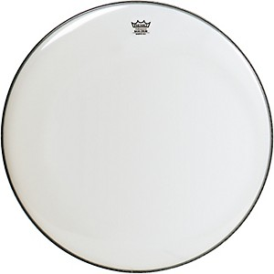 Remo WeatherKing Smooth White Ambassador Bass Drumhead 24 in.