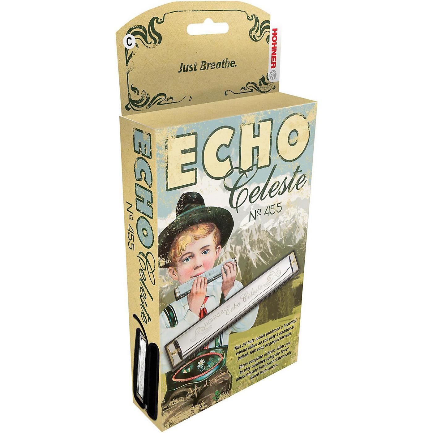Hohner 455 Echo Celeste Tremolo Harmonica thumbnail
