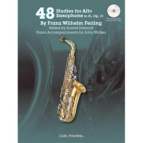 Carl Fischer 48 Studies for Alto Saxophone in Eb, Op. 31 Book/CD thumbnail
