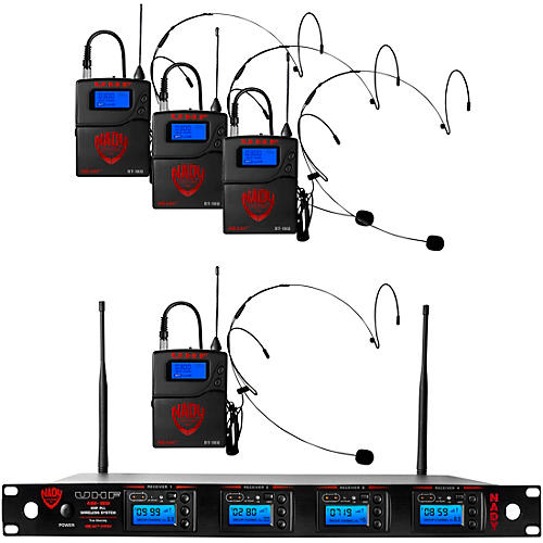 Nady 4W-1KU-HM10 Black, 1000-channel Headset Wireless System thumbnail