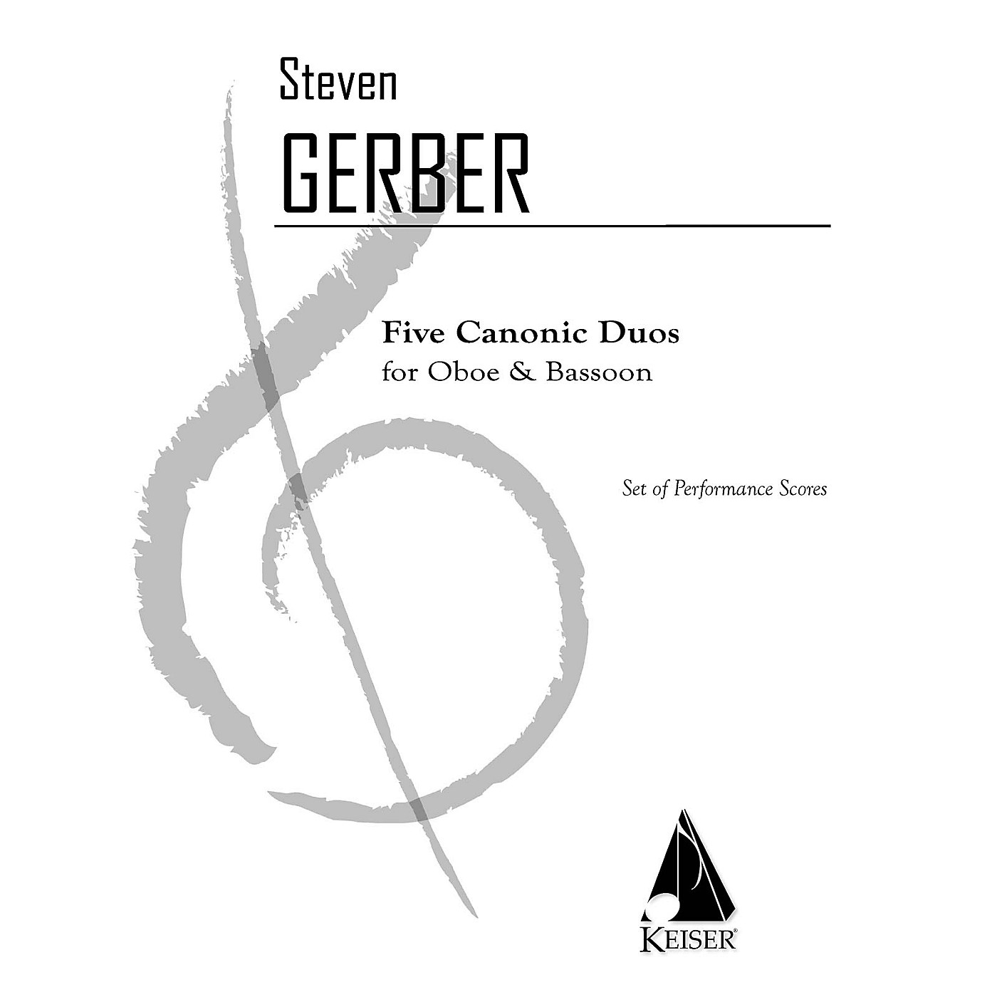 Lauren Keiser Music Publishing 5 Canonic Duos for Oboe and Bassoon LKM Music Series Composed by Steven Gerber thumbnail