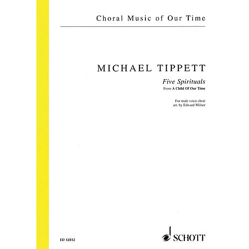 Schott 5 Negro Spirituals from A Child of Our Time TTBB A Cappella Composed by Tippett Arranged by Edward Milner thumbnail