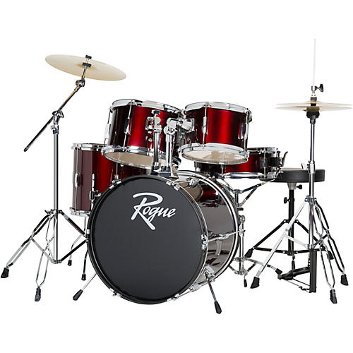 Cheapest Acoustic Drum Set : rogue wine red 5 piece complete drum set woodwind brasswind ~ Vivirlamusica.com Haus und Dekorationen