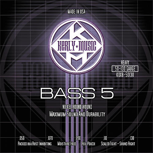 Kerly Music 5-String Bass Guitar Strings - Heavy Nickel Plated thumbnail