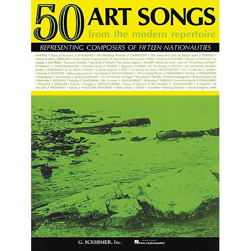 G. Schirmer 50 Art Songs From The Modern Repertoire Voice / Piano thumbnail