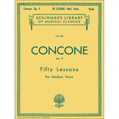 G. Schirmer 50 Lessons, Op. 9 by Concone for Medium Voice-thumbnail