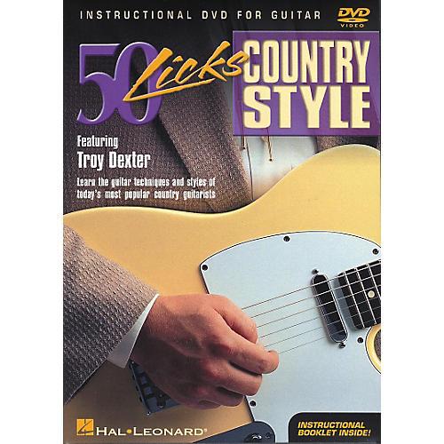 Hal Leonard 50 Licks Country Style DVD thumbnail