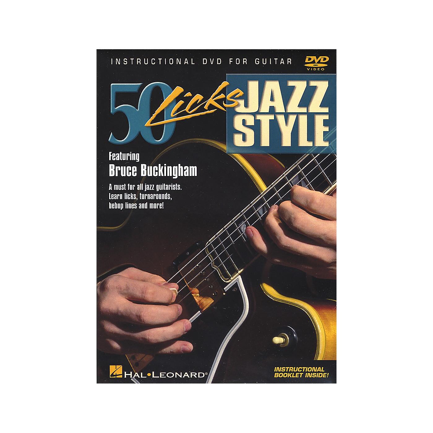 Hal Leonard 50 Licks Jazz Style DVD thumbnail