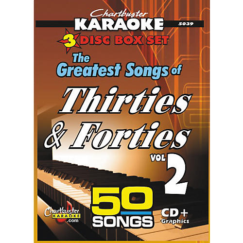 Chartbuster Karaoke 50 Song Pack Greatest Songs Of The Thirties And Forties Volume 2 CD
