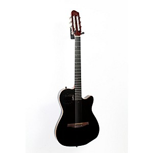 Godin ACS-SA Slim Nylon String Cedar Top Acoustic-Electric Guitar Black Pearl 888365492407