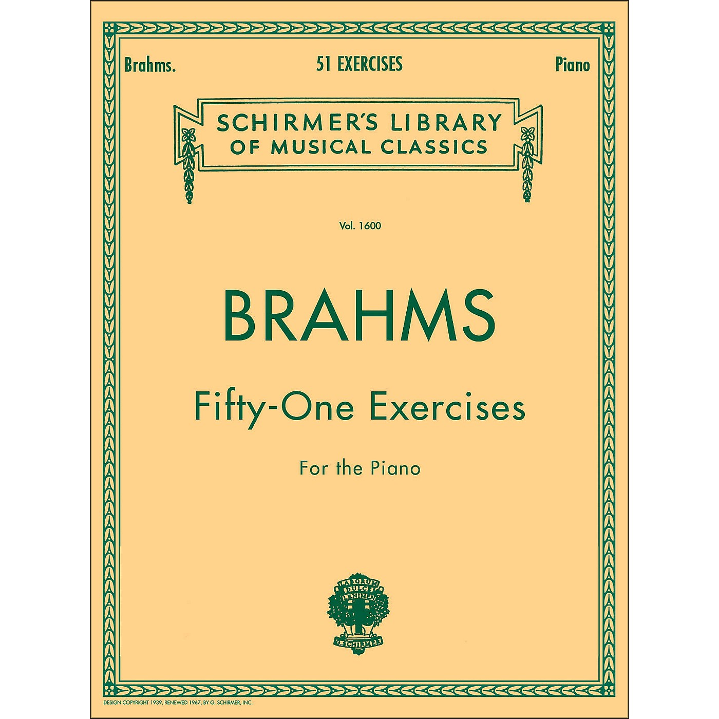 G. Schirmer 51 Exercises for Piano 51 By Brahms thumbnail