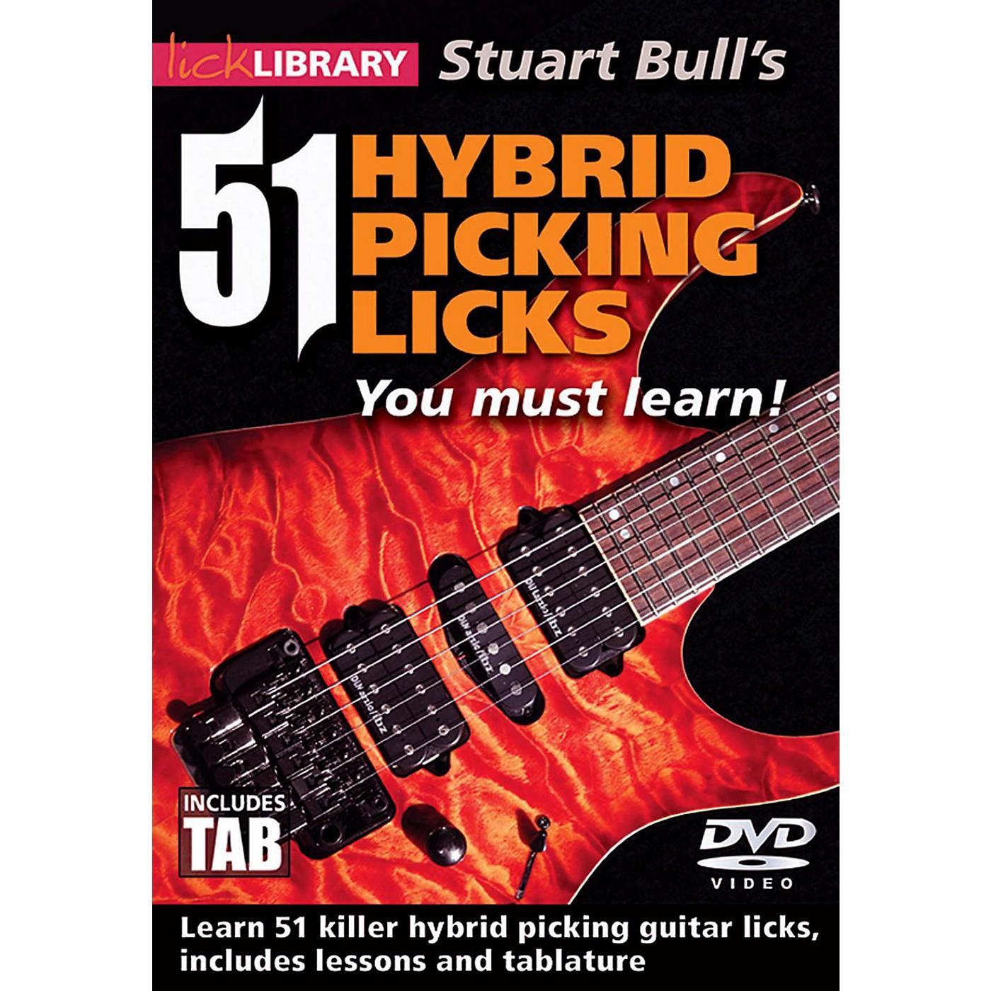Hal Leonard 51 Hybrid Picking Licks You Must Learn - Lick Library DVD thumbnail